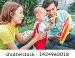 family bonds. happy young...   Shutterstock . vector #1424963018