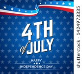 fourth of july  4th of july... | Shutterstock .eps vector #1424973335