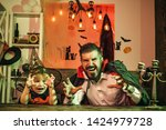 scary stories. a terrible night ...   Shutterstock . vector #1424979728
