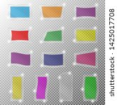 vector set of colored glass... | Shutterstock .eps vector #1425017708