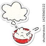 cartoon bowl of porridge with... | Shutterstock .eps vector #1425060122