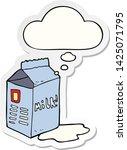 cartoon milk carton with... | Shutterstock .eps vector #1425071795