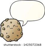 cartoon biscuit with speech... | Shutterstock .eps vector #1425072368