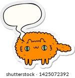 cartoon cat with speech bubble... | Shutterstock .eps vector #1425072392