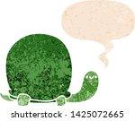 cute cartoon tortoise with... | Shutterstock .eps vector #1425072665