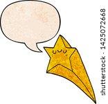 cartoon shooting star with... | Shutterstock .eps vector #1425072668