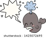 cartoon spouting whale with... | Shutterstock .eps vector #1425072695