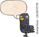 cartoon bird with speech bubble ... | Shutterstock .eps vector #1425073778