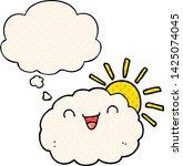 happy cartoon cloud with... | Shutterstock .eps vector #1425074045