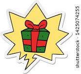 cartoon present with speech... | Shutterstock .eps vector #1425074255