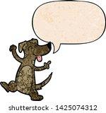 cartoon dancing dog with speech ... | Shutterstock .eps vector #1425074312