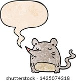 cartoon mouse with speech... | Shutterstock .eps vector #1425074318