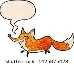 cute cartoon sly fox with... | Shutterstock .eps vector #1425075428