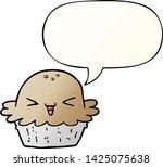 cute cartoon pie with speech... | Shutterstock .eps vector #1425075638