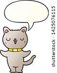 cartoon cat with speech bubble... | Shutterstock .eps vector #1425076115