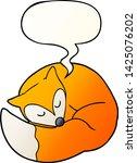 cartoon sleeping fox with... | Shutterstock .eps vector #1425076202