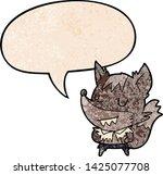 cartoon halloween werewolf with ... | Shutterstock .eps vector #1425077708