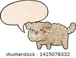 cartoon dog with speech bubble... | Shutterstock .eps vector #1425078332