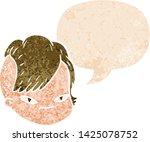 cartoon female face with speech ... | Shutterstock .eps vector #1425078752