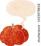 cartoon pumpkin with speech... | Shutterstock .eps vector #1425078818