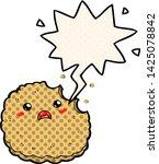 cartoon biscuit with speech... | Shutterstock .eps vector #1425078842