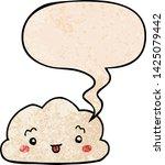 cartoon cloud with speech... | Shutterstock .eps vector #1425079442