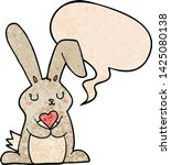 cartoon rabbit in love with... | Shutterstock .eps vector #1425080138