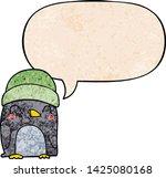cute cartoon penguin with... | Shutterstock .eps vector #1425080168