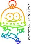rainbow gradient line drawing... | Shutterstock .eps vector #1425114935
