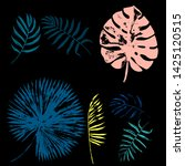 vector set of grunge bright... | Shutterstock .eps vector #1425120515