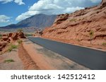 The Road In The Red Desert Of...