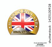made in england sticker. bright ... | Shutterstock .eps vector #1425130928