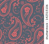 Vector Flower Paisley Seamless...