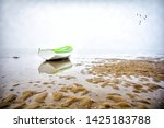 Lonely Boat On The Beach A...