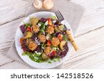 grilled stuffed mushrooms with...   Shutterstock . vector #142518526