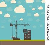 abstract  crane illustration | Shutterstock . vector #142519102