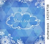 textured vintage blue vector... | Shutterstock .eps vector #142519738