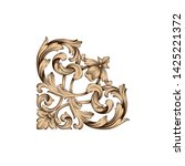 baroque ornament with filigree...   Shutterstock .eps vector #1425221372