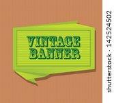 vector abstract vintage green... | Shutterstock .eps vector #142524502