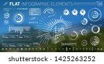corporate infographic vector... | Shutterstock .eps vector #1425263252