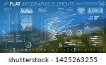 corporate infographic vector... | Shutterstock .eps vector #1425263255