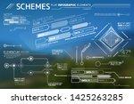 schemes flat infographic... | Shutterstock .eps vector #1425263285