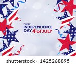 fourth of july. 4th of july... | Shutterstock .eps vector #1425268895
