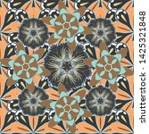 floral seamless pattern with... | Shutterstock .eps vector #1425321848