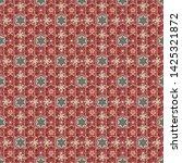 seamless pattern in beige  red... | Shutterstock .eps vector #1425321872