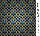 vector flowers pattern.... | Shutterstock .eps vector #1425321878