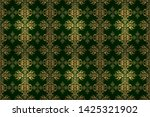 seamless pattern with damask... | Shutterstock . vector #1425321902