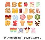 set of tasty alphabet letters.... | Shutterstock .eps vector #1425322952