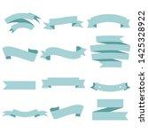 blue ribbon set inisolated... | Shutterstock .eps vector #1425328922