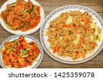 indian food meal of spicy...   Shutterstock . vector #1425359078